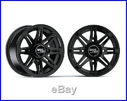 14 RockTrix RT103 ATV Wheels Rims for Polaris Sportsman RZR Ranger 14x7, 4+3