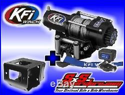 2500 lb KFI Winch Combo Polaris Sportsman 550 850 XP & 2011-2019 400 500 570 800