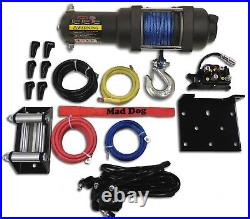 2500lb Mad Dog Synthetic Winch/Mount Kit for 2016-2021 Polaris Sportsman 450