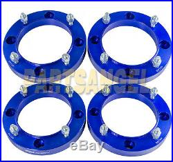 (4) 1.0 inch ATV 4x156 Blue Wheel Spacers for Polaris 3/8 Studs Sportsman XP