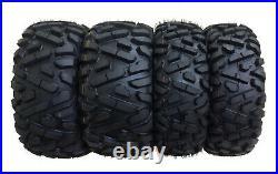 4 New WANDA ATV/UTV Tires 25X8-12 25X10-12 for 05-06 Polaris SPORTSMAN MV7