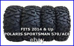 4 WANDA ATV/UTV Tires 25X8-12 25X10-12 for 2014 & Up POLARIS SPORTSMAN 570/ACE