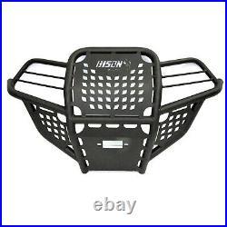Bison 166-151H ATV Front Bumper Wrinkle Black Polaris Sportsman 550 850 09-2014