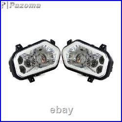 For Polaris Sportsman RZR 400 450 570 800 900 XP4 UTV LED Headlight with Halo Ring