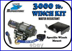 KFI 3000 lb. Winch Mount Kit 09-21 Polaris Sportsman 400 500 550 570 800 850 1000