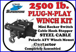 KFI Winch Kit 2500lb. Plug-N-Play'12-'20 Polaris Sportsman 450 550 570 850 1000