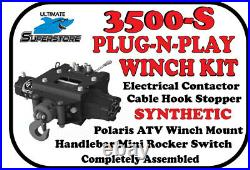 KFI Winch Kit 3500 lb. Plug-N-Play'14-'21 Polaris Sportsman 450 550 570 850 Syn