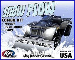 Polaris 450 Sportsman 2016-2020 KFI ATV 54 Snow Plow Combo Kit