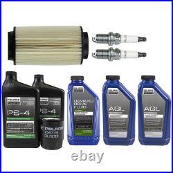 Polaris Oil Fluid Change Kit Air Filter Spark Plug 2002-14 Sportsman 800