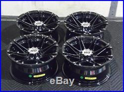 Polaris Sportsman 450 14 Sti Hd3 Blk Aluminum Atv Wheels Complete (set4) Pol3ca