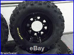 Polaris Sportsman 500 25 Kenda Bear Claw Atv Tire Itp Black Atv Wheel Kit Pold