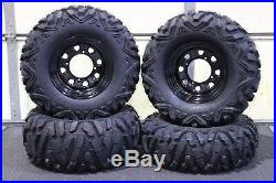 Polaris Sportsman 500 26 Quadking Atv Tire Itp Blk Atv Wheel Kit Bigghorn Pold