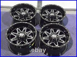 Polaris Sportsman 570 12 Sti Hd4 Aluminum Atv Wheels Complete (set 4) Pol3ca