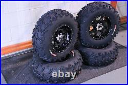 Polaris Sportsman 570 25 Bear Claw Atv Tire & Cobra Blk Wheel Kit Pol3ca
