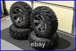 Polaris Sportsman 570 25 Bear Claw Atv Tire & Viper M/b Wheel Kit Pol3ca