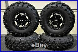 Polaris Sportsman 570 26 Swl Atv Tire & Viper Black Wheel Kit Pol3ca (swamp)