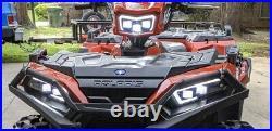 Polaris Sportsman 570 850 1000 450 LED headlight kit 2884859 halo HARNESS PT246