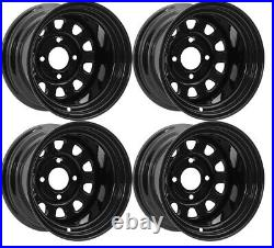 Polaris Sportsman 570 Rims 500 Wheels 12 Front Rear Black ITP Delta 600 700 800