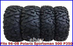 Set 4 WANDA ATV tires 25x8-12 & 25x11-10 for 96-08 Polaris Sportsman 500 P350