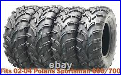 Set 4 WANDA ATV tires 25x8-12 & 25x11-12 for 02-04 Polaris Sportsman 600/700