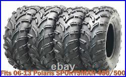 Set 4 WANDA ATV tires 25x8-12 & 25x11-12 for 06-13 Polaris SPORTSMAN 450/500