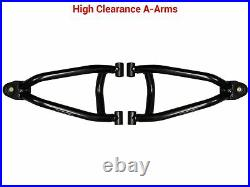 SuperATV High Clearance Front A-Arms for Polaris Sportsman 550/ 850/ 1000- BLACK